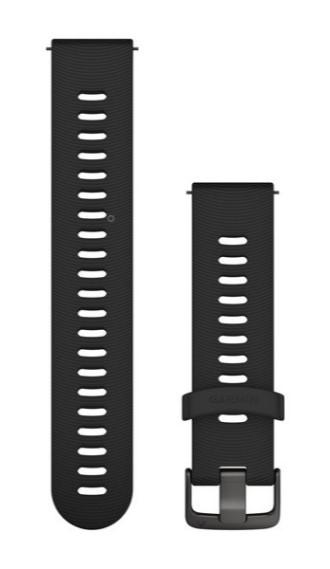 Силиконовый ремешок Garmin черного цвета с черной пряжкой