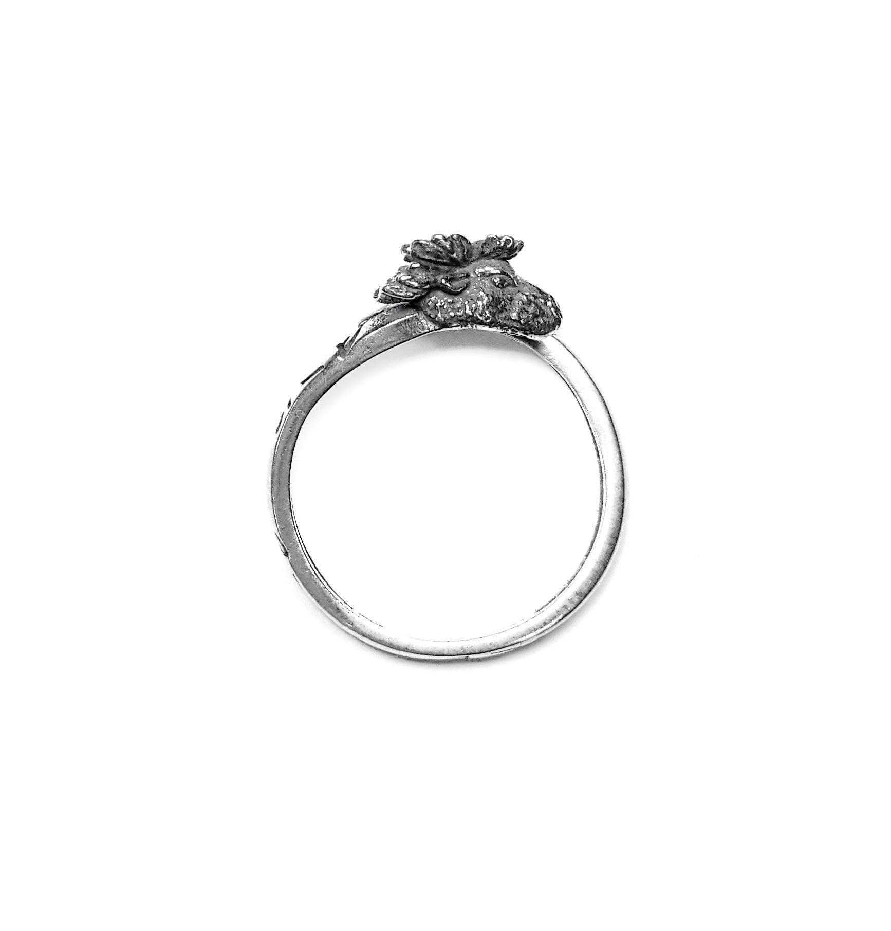Elk Totem Ring, Sterling Silver
