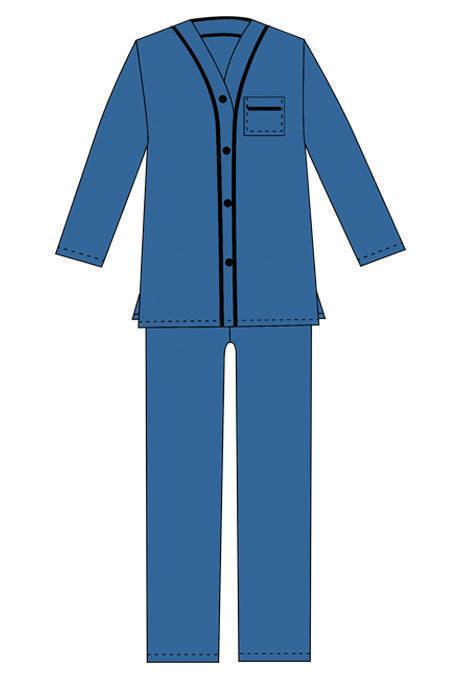 Выкройка стильной мужской пижамы тех рисунок