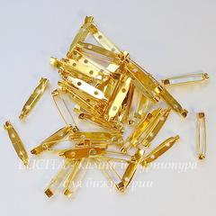 Основа для броши 30х6 мм (цвет - золото), примерно 95-100 штук
