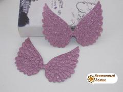 Декор глиттерный крылья большие розовые
