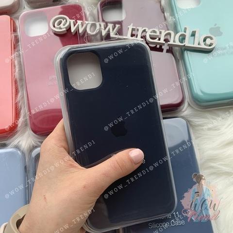 Чехол iPhone 11 Silicone Case Full /midnight  blue/