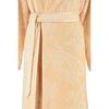 Элитный халат велюровый 4420 Paisley желтый от Cawo