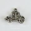 "Подвеска 3D ""Карета"" 19х13 мм (цвет - античное серебро)"