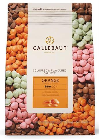 Шоколад со вкусом апельсина оранжевый Callebaut