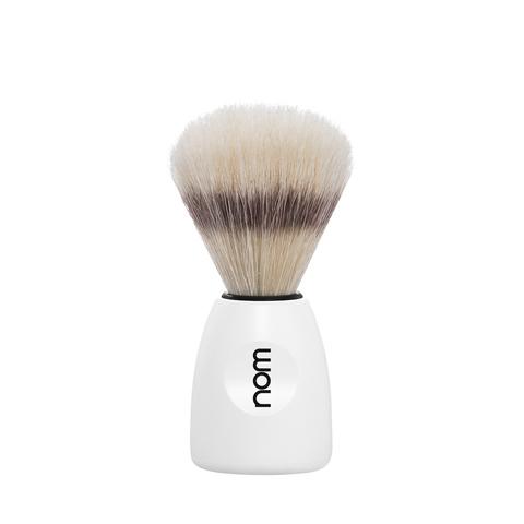 Помазок для бритья Nom Max натуральный кабан белый