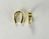 Протектор ювелирного тросика, 4 мм, позолоченный, 2 шт.