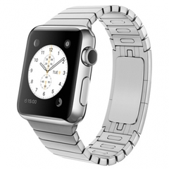 Часы Apple Watch 42мм (серебристный стальной с застежкой