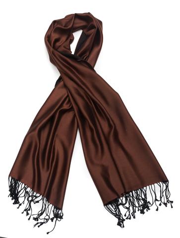 Плед-шарф 50х180 AM Paris Paraty шоколадный-черный