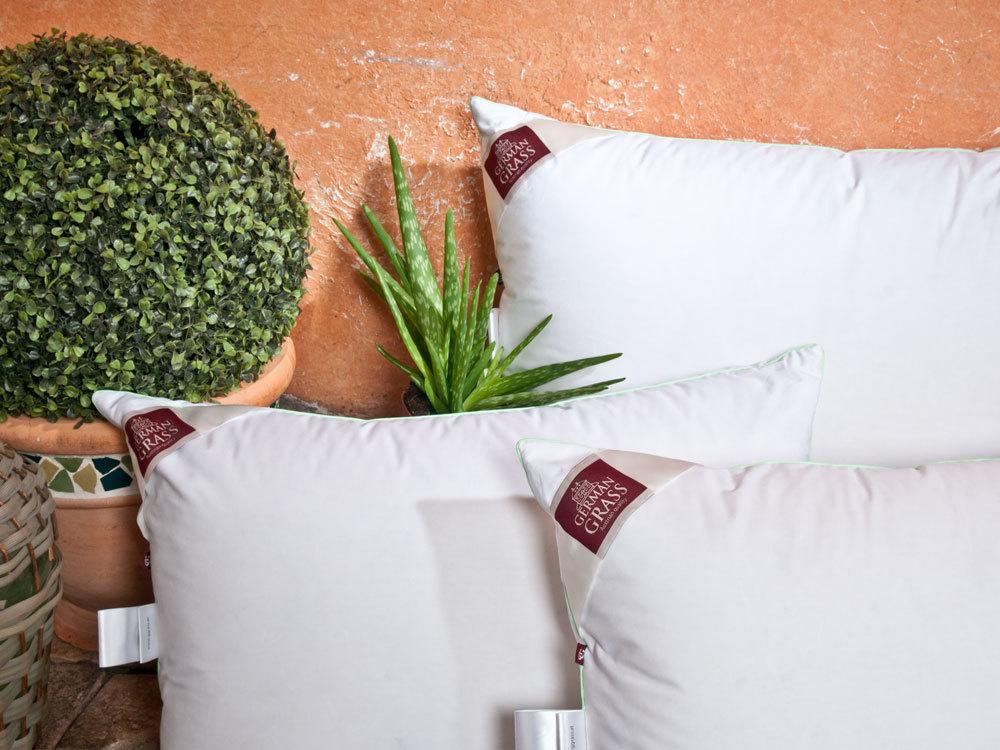 Подушки для сна Подушка пуховая 50х70 German Grass 3D Aloe Vera podushka-3d-aloe-vera-grass-ot-germann-grass.jpg