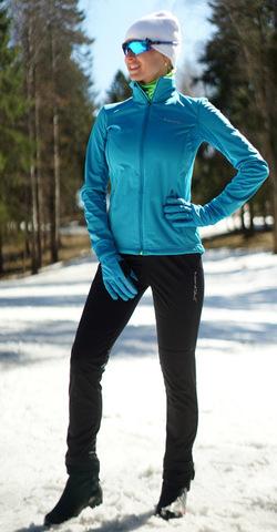 Женский утеплённый лыжный костюм Nordski Motion 2019 Breeze/Black
