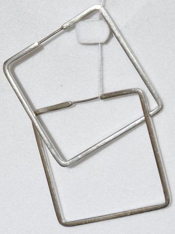Конго-квадрат (серьги из серебра)