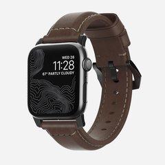 Ремешок Nomad Traditional Strap для Apple Watch 40mm/38mm кожа, коричневый/черный