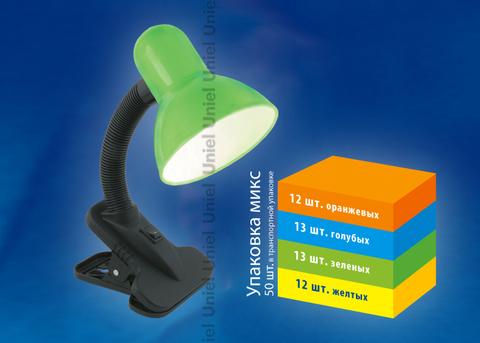 TLI-222 MIX (Deep Orange, Light Blue, Light Green, Light Yellow). Светильник настольный. Цоколь E27. Цвет микс