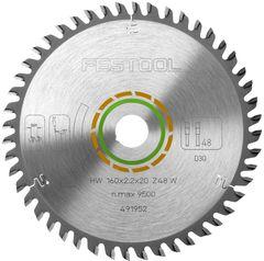 Пильный диск FESTOOL с мелким зубом 160x2,2x20 W48