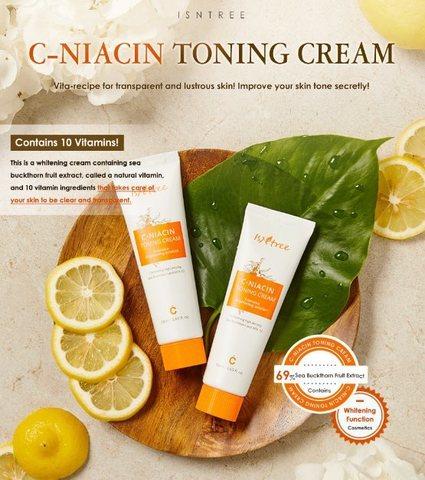 Крем с витамином С и ниацинамидом, 50 мл / Isntree C-Niacin Toning Cream