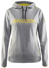 Толстовка Craft Ski Team SWE Grey Сборной Швеции женская