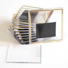 Акриловый магнит 65х65 мм с тиснением