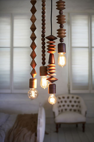Bright Beads - 4 cluster - Pendant lights