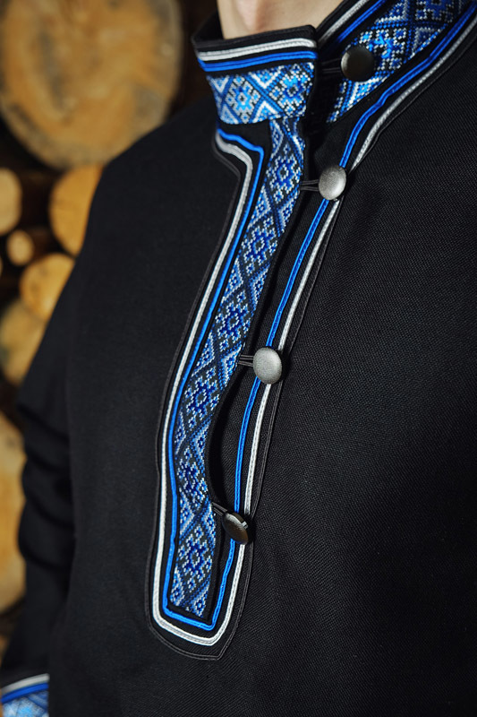 Мужская рубашка Лазурная застёжка