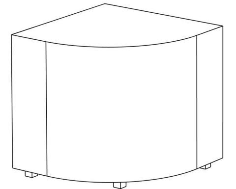 Пф-04 Пуфик угловой (синий) для дома и магазина