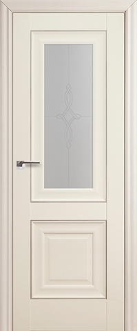 Дверь Profil Doors №28Х, стекло узор, цвет эш вайт, остекленная