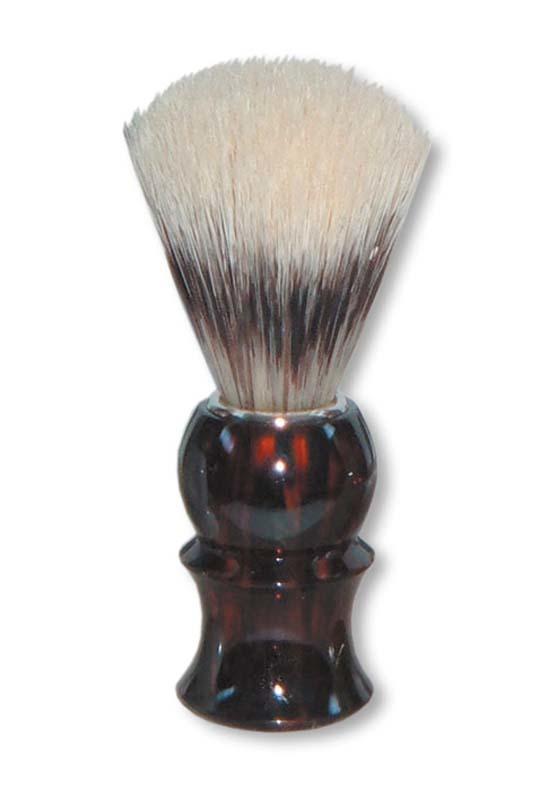 Помазок для бритья Mondial, пластик, ворс барсука, рукоять - темно-коричневый цвет