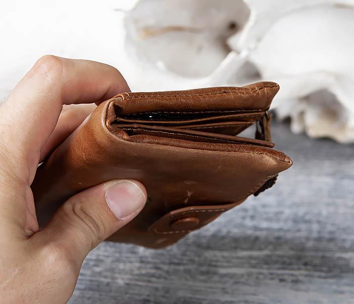 WL307-2 Мужское портмоне коричневого цвета из натуральной кожи фото 12