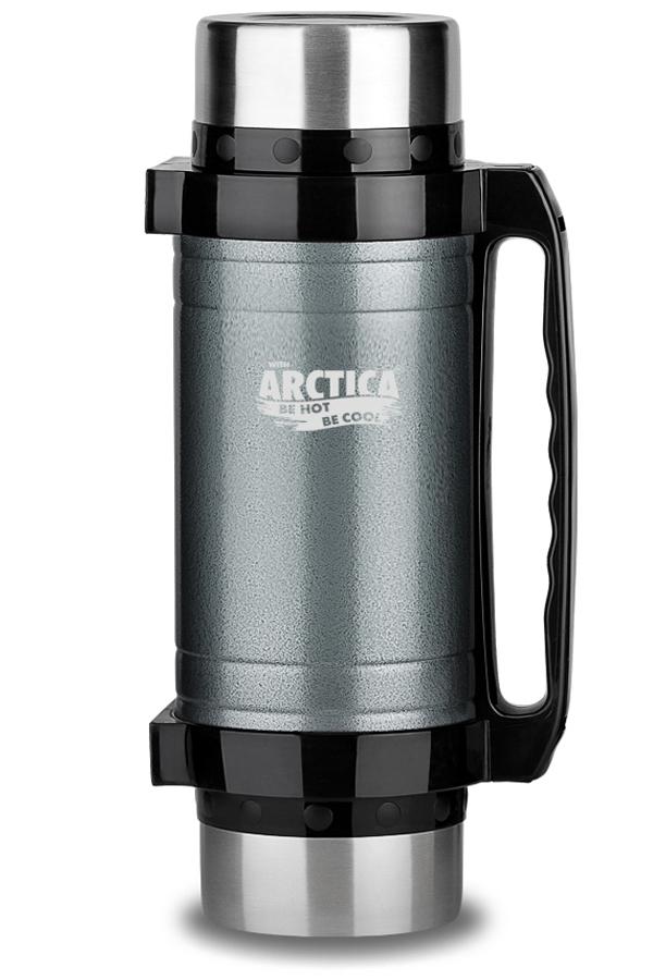 Термос универсальный (для еды и напитков) Арктика (2 литра) с супер-широким горлом, серый