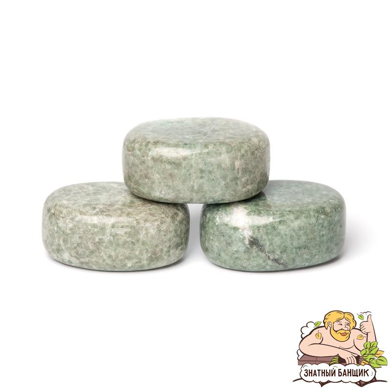 Жадеит, круглый полированный камень для стоун-терапии