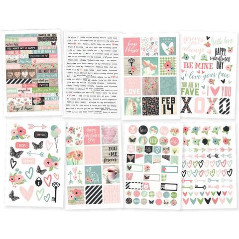 Стикеры для ежедневников Romance Stickers -Discontinued -4шт/10х17см