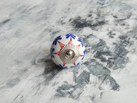 Ручка мебельная керамическая  расписная √64, 00001064
