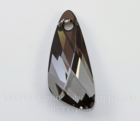 6690 Подвеска Сваровски Wing Crystal Silver Night (23 мм)