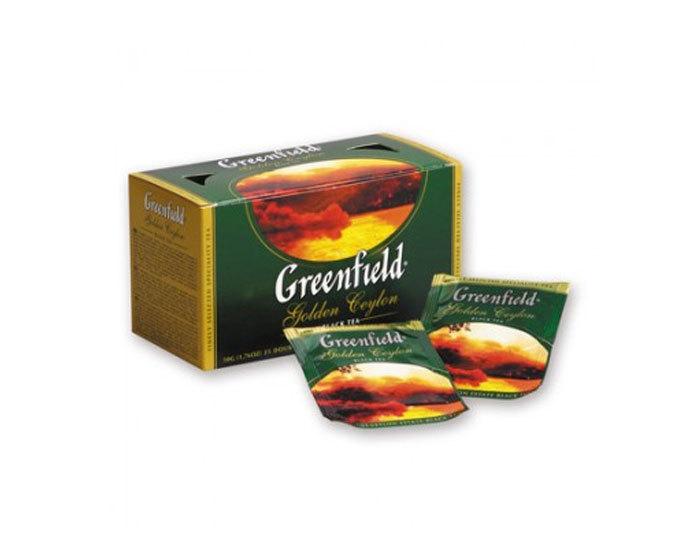 Чай черный в пакетиках из фольги Greenfield Golden Ceylon, 25 пак/уп (Гринфилд)