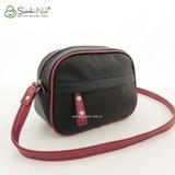 Сумка Саломея 496 гладкий черный + рубин