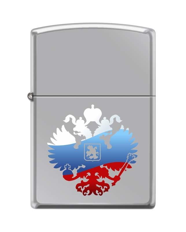 Зажигалка ZIPPO Classic High Polish Chrome™ с изображением двуглавого орла ZP-250 RUSSIAN COAT OF ARMS