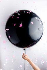 Свадьба Большой черный шар 90 см. medium_большие_черные_шарики.jpg