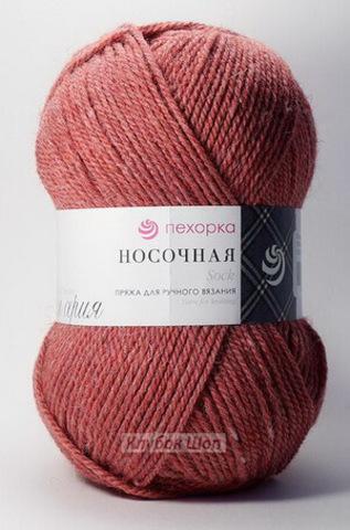 Пряжа Носочная (Пехорка) Красный меланж 816 - фото