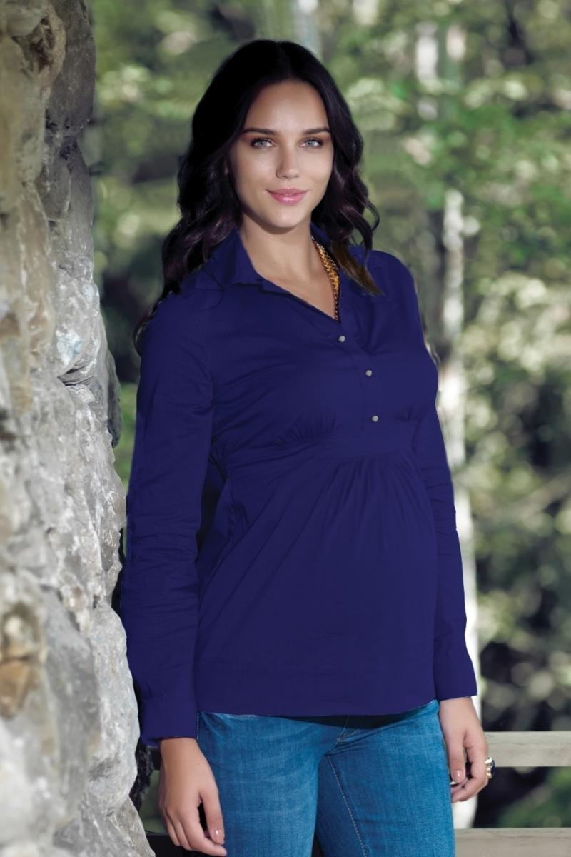 Блузка для беременных 01323 синий