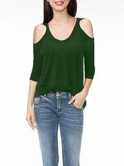 GTS013789 блузка детская, зеленая