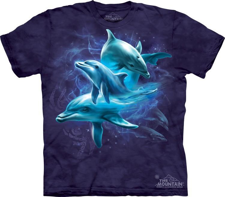 Футболка Mountain с изображением дельфинов - Dolphin Collage