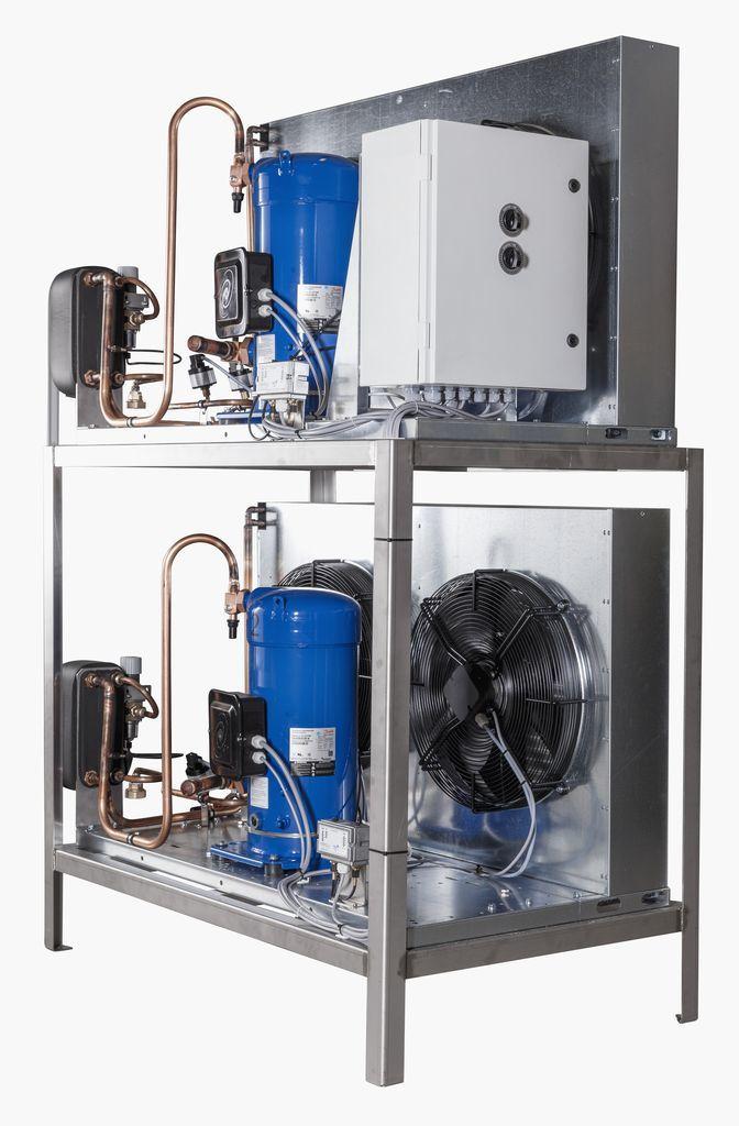 7000 литров | Агрегат для танка охладителя молока на отдельной раме