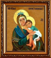 Пристанище. Икона Божией матери на холсте.