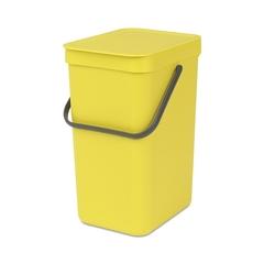 Ведро для мусора Brabantia Sort&Go желтое 12л