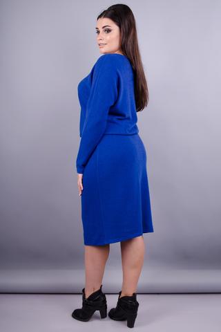 Моніка. Красива жіноча сукня плюс сайз. Електрик.