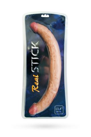 Двусторонний фаллоимитатор TOYFA RealStick Nude реалистичный, PVC, телесный, 42,5 см