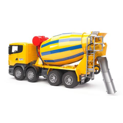 Bruder: Бетономешалка Scania (цвет жёлто синий), 03-554