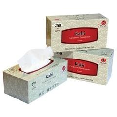 Салфетки бумажные, MANEKI, Kabi, белые, 2 слоя, коробка, 250 шт.