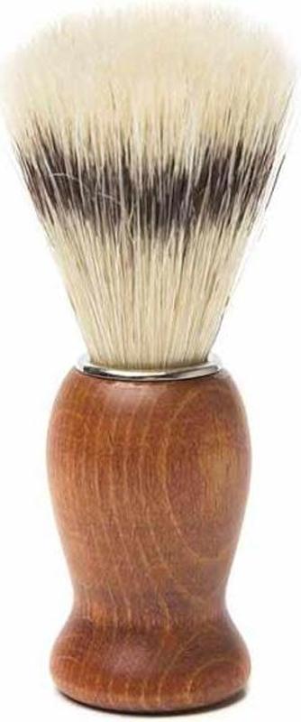 Помазок для бритья Mondial, дерево, свиной ворс, рукоять - красное дерево