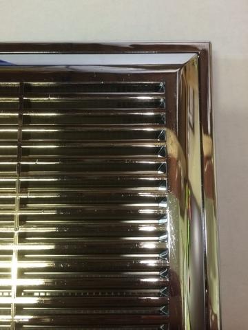 Решетка накладная 150х150 мм Хром (П1515М)